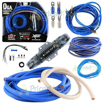Orion True OFC 0 Gauge Complete Amp Wiring Kit 100% Pure Copper Wire Install