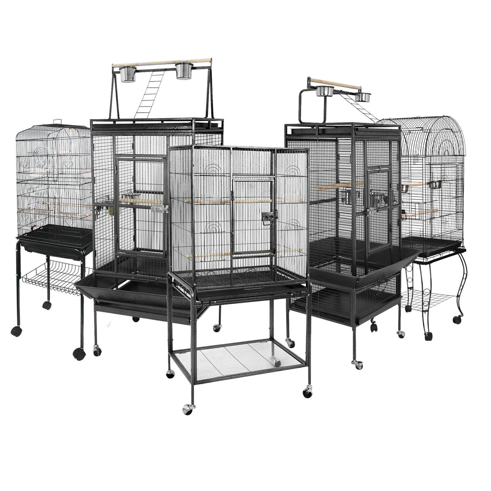 Multiple Sizes Durable Steel Bird Cage Best Place for Birds Large Parrot Cage Bird Supplies