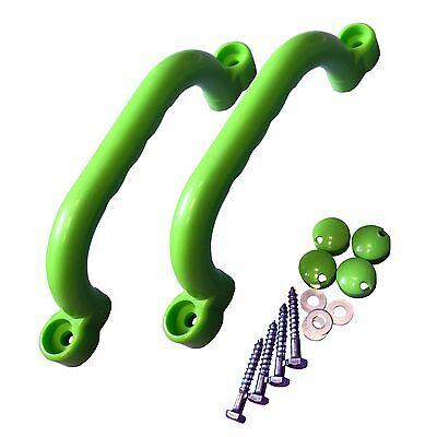 Spielturm Griff SET 2 x Handgriffe Handgriff Kletterturm Kunststoff apfelgrün