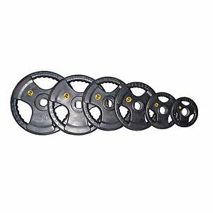 100KG COMMERCIAL OLY RUBBER PLATES PACKAGE + FREE QUICK LOCKS Osborne Park Stirling Area Preview