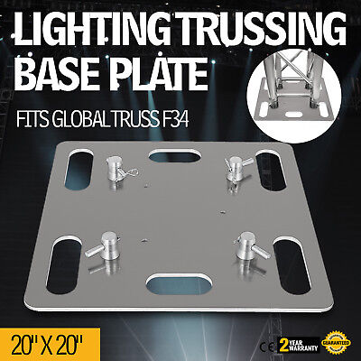 "Lighting Trussing Base Plate 20""x20"" Square Fits F34 Pins Durable Global"