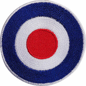 Royal Air Force Embroidered Iron / Sew On Patch RAF MOD Target Navy Army Badge