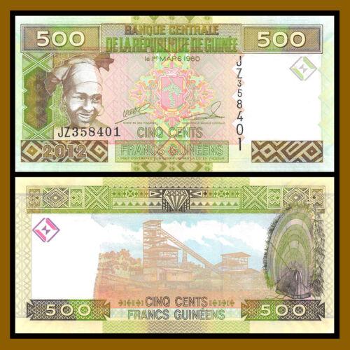 Guinea 500 Francs, 2012 P-39b Unc