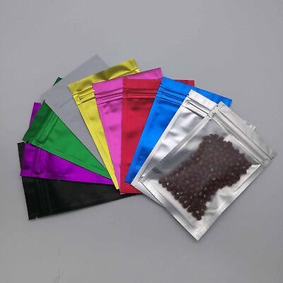 9 Colors Matte Clear Flat Aluminum Foil Bag Mylar Zip Lock Food Storage Pouch