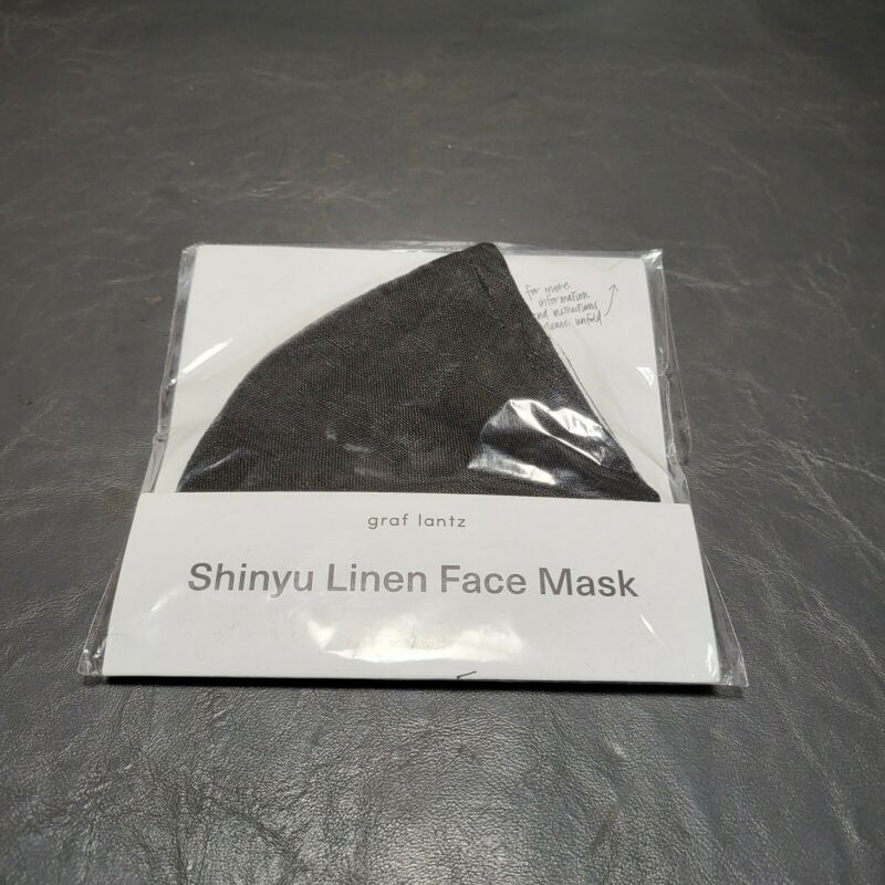 Graf Lantz Black Shinyu Linen Mask Free shipping!