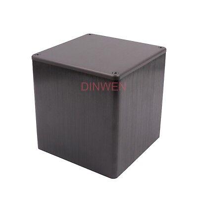 - 1PC Black Aluminum Transformer Triode Protect Cover Enclosure DIY 134*134*136mm