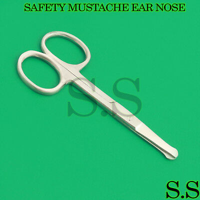 Used, EAR MOUSTACHE NOSE HAIR BABY NAIL PET HAIR SAFTY SCISSORS for sale  Shipping to India