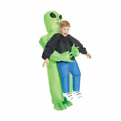 Morph KMCPIAL Boys Pick Me up Inflatable Costume, One Size, Alien - Kids Morph Kostüm