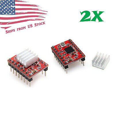 2pcs A4988 Stepper Motor Driver Module For 3d Printer Reprap Stepstick Arduino