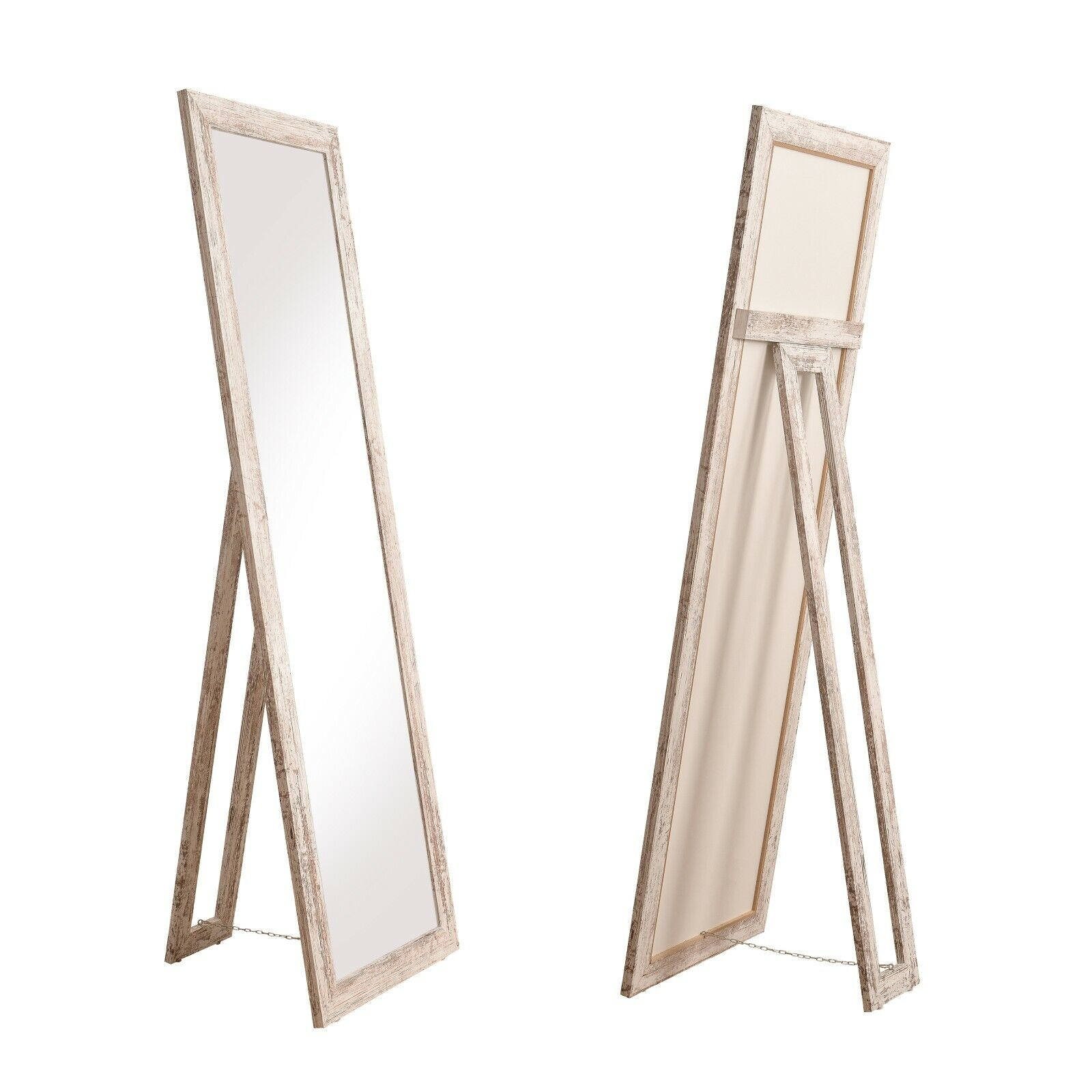 Standspiegel Milan moderner Ganzkörper Ankleide-Spiegel in Vintage 160x50cm