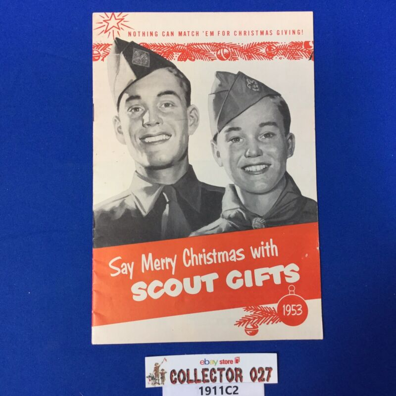 Boy Scout 1953 Christmas Scout Gifts Catalog