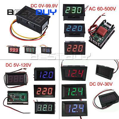 0.56led Volt Meter Digital Panel Volt Meter Ac 60-500v Dc 0-30v0-99.9v5-120v