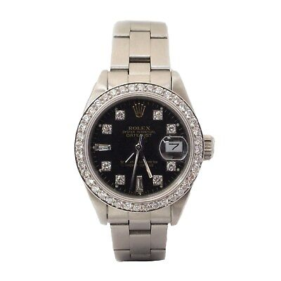 Rolex Datejust Lady's Oyster Perpetual With Diamond Bezel & Face