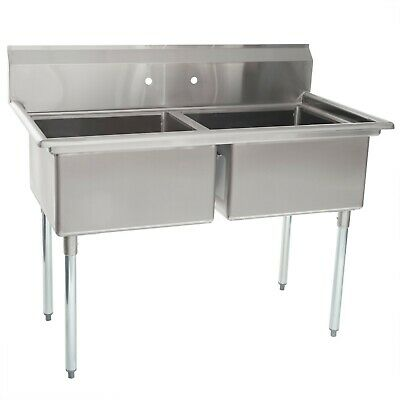 Nsf Two 2 Compartment Sink 16 Gauge Heavy Duty 26x48 Bowl Size 20x20