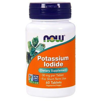 NOW Foods Potassium Iodide, 30 mg, 60 - Potassium Iodide Tablets