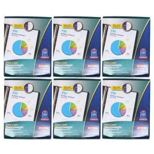 Avery 76006 Acid Free Premium 250 Pack Heavyweight Sheet Protectors (6-Pack)