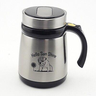 - Self Stirring Cold&Hot Stainless Steel Mug Auto Mixer Tea Sugar Travel Cup