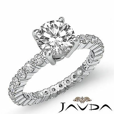 Shared Prong Round Natural Diamond Engagement Anniversary Ring GIA H VS2 1.8 Ct