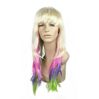 Adult Womens Long Blonde Bang Rockstar Nicki Minaj Halloween Cosplay Costume Wig - Nicki Minaj Costume Halloween