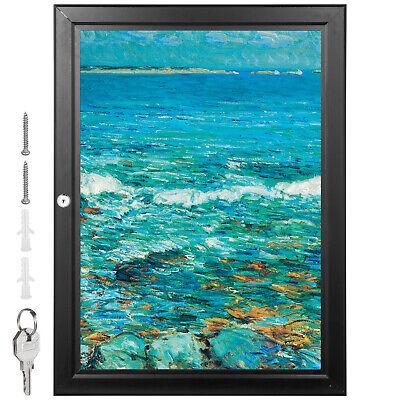 Zsja2 Lockable Poster Frame Menu Outdoor Display Case Notice Board 19.3x26 Pubs