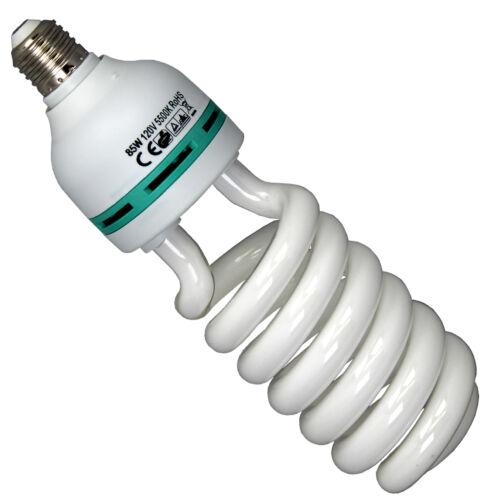 85W 5500K Spiral Fluorescent Day Light Bulbs Lamp For Photo Studio Energy Saving