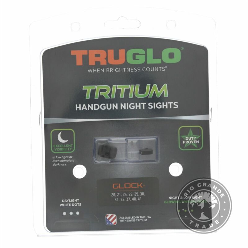 NEW TRUGLO TG231G2 Tritium Handgun Glow in The Dark Night Sights in Black