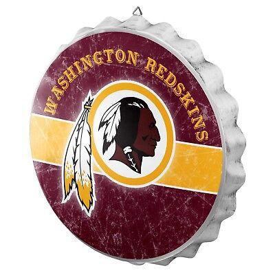 Washington Redskins Bottle Cap Wall Sign Distressed Room Bar Decor Metal 13.5