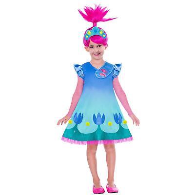 �dchen Queen Mohn Pop Trolle Welt Tour Kostüm + Perücke (Rosa Perücke Troll)