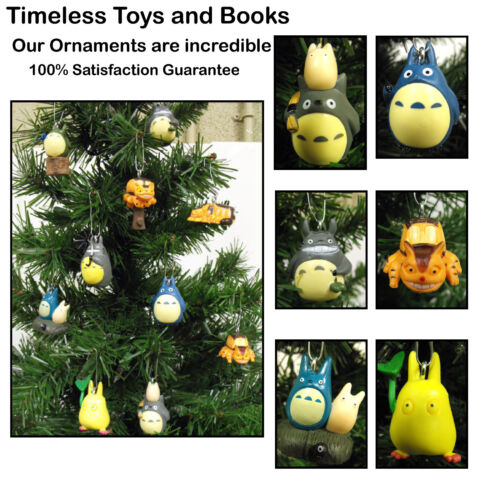 Totoro Christmas Tree Ornaments 10 Piece Set Totoro and Friends ***BRAND NEW***