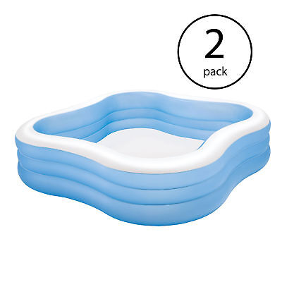 Inflatable Pack And Play (Intex Swim Center Backyard Inflatable Play Family and Kid Swimming Pool (2)