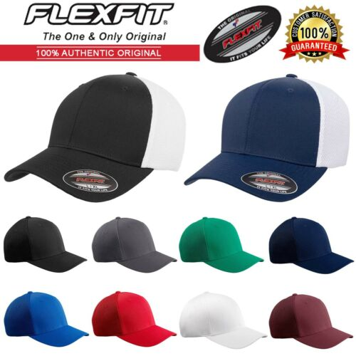 NEW Original Flexfit Adult Baseball Fitted Hat Ultrafibre and Airmesh Cap 6533