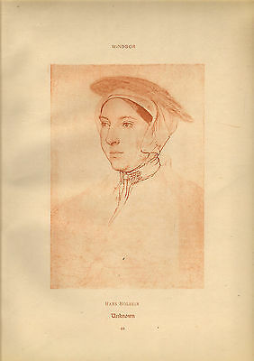 large reproduced  portraits from  the court of henry v111 .unkown lady