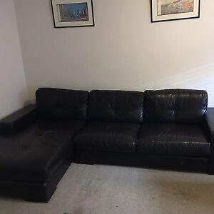 Modular leather lounge Ashfield Ashfield Area Preview