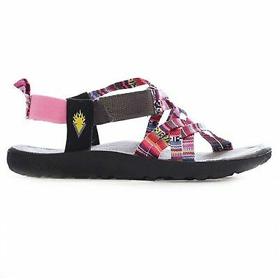 Kids Volatile KIWIS Aztec Canvas Criss Cross Straps Rubber Sole Sandal Shoes