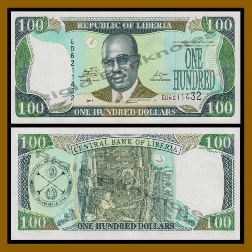 Liberia 100 Dollars, 2011 P-30 Unc