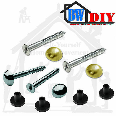 Mirror Screws Brass or Dome Capped with Washer Grommets Vari