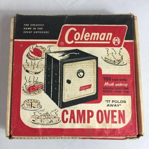 Vtg. Coleman Folding Portable Camp Outdoor Baking Oven