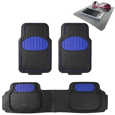 Universal Floor Mat Football Design Blue for Car SUV Van w. FREE Dash Mat Gift