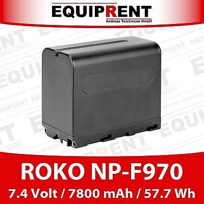 ROKO NP-F970 Akku für Sony Kameras / Monitore (7.4V / 7800mAh / 57.7Wh) EQE10 gebraucht kaufen  Hamburg