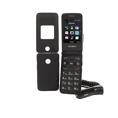 Alcatel Bluetooth Cell Phone (Tracfone Alcatel A405 Flip Prepaid Cell Phone + Free Case and Car)