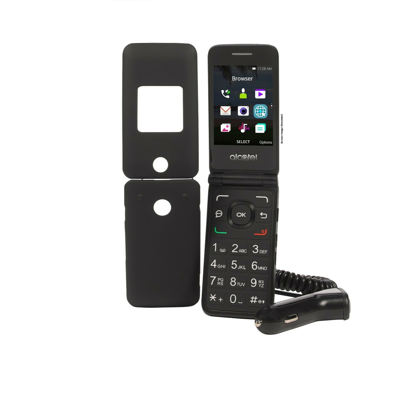 Total Wireless Alcatel MyFlip 4G Prepaid Flip Phone