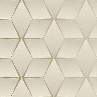 Texturizado Geométrico Topo / Plata 310603 Rasch Pintado - Metálico Stars Cubos