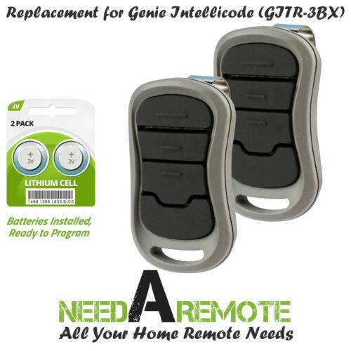2 For Genie GITR-3BX Three Button G3T-A Garage Gate Door Opener Visor Remote