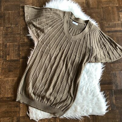 Calvin Klein Large Brown V Neck Sweater Dress
