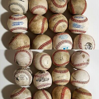 Lot of 24 Practice Little League Hard & Soft Baseball Leather Synthetic T-Ball