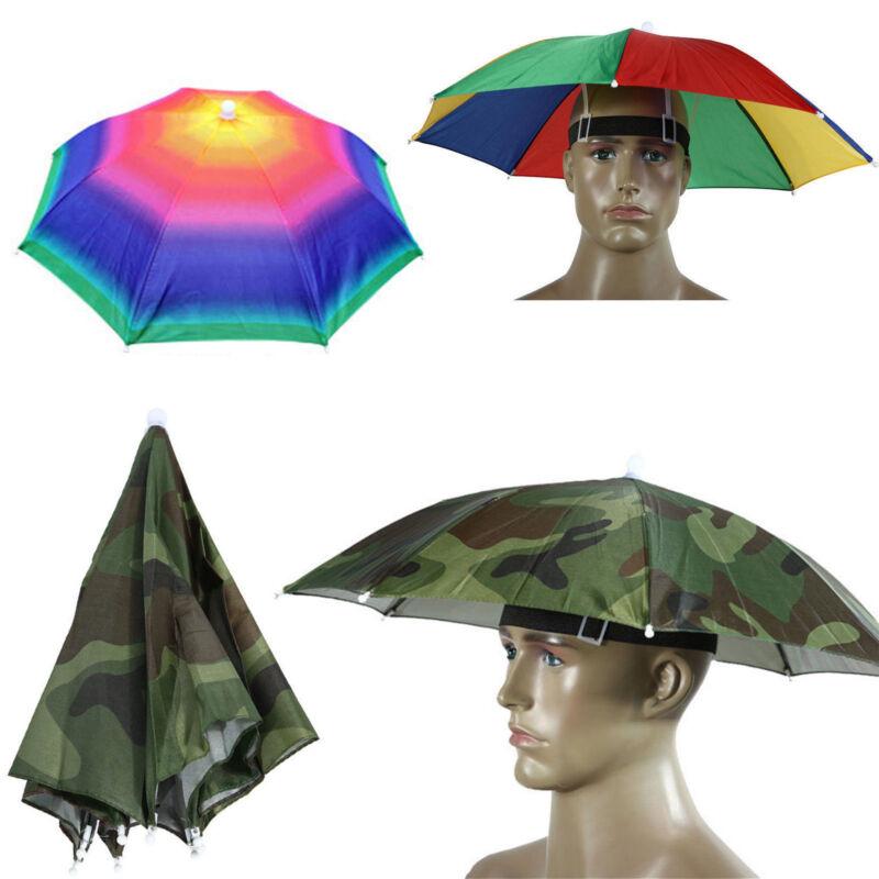 Sonnenschirm Regenschirm Stirnband Kopfbedeckung Anglerhut Schlapphut Mützen Hut