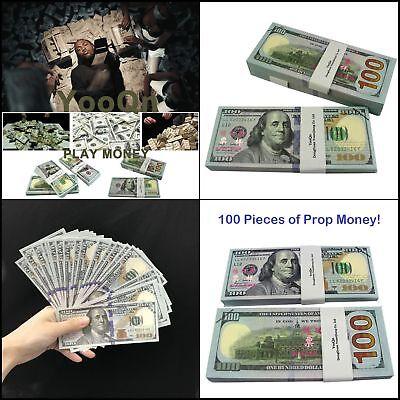 Play Money Fake $10,000 Full Print Money Copy Of $100 Dollar Bills New Style