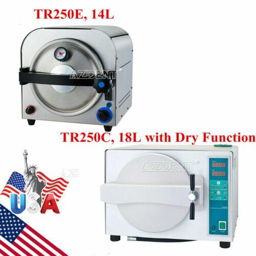 14/18L Dental Lab Autoclave Steam Sterilizer Sterilization/W/ Drying Function US