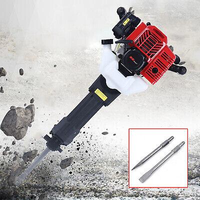 52cc 2-stroke Gas Demolition Jack Hammer Electric Concrete Breaker W 2 Drill Us