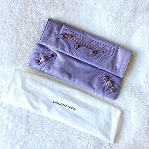 Balenciaga Calf leather clutch in Lilac with Rosegold details